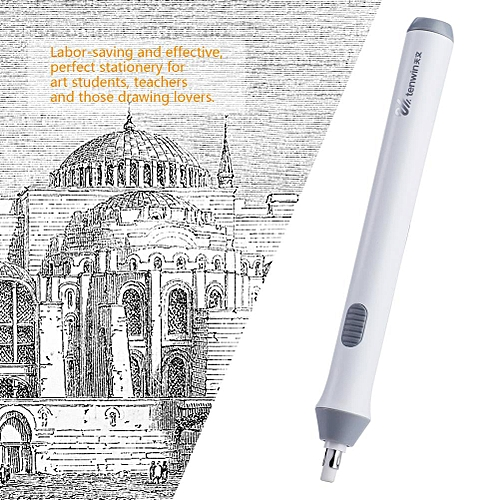 Electric Battery Powered Eraser Operated Automatic Pencil Eraser With 22 Eraser Refills