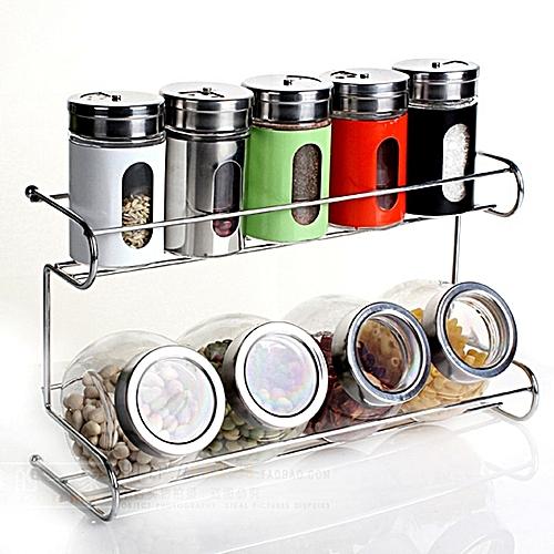 10 Pcs/set Seasoning Box Condiment Food Container Kitchen Storage Jar -Multicolor
