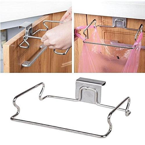 10PCS Kitchen Cabinet Door Back Hanging Holder Rack Organizer For Home Trash Bag Tower