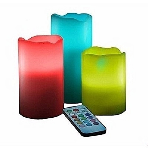 Flameless Luma Candles With Remote