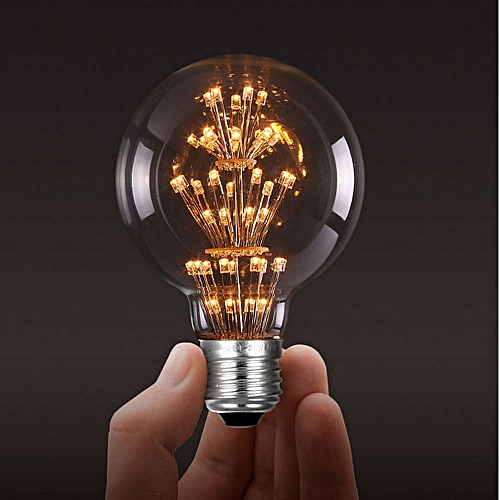 -E27 G95 Edison Tungsten Retro LED Lamp Decorated With Sky Stars 5W