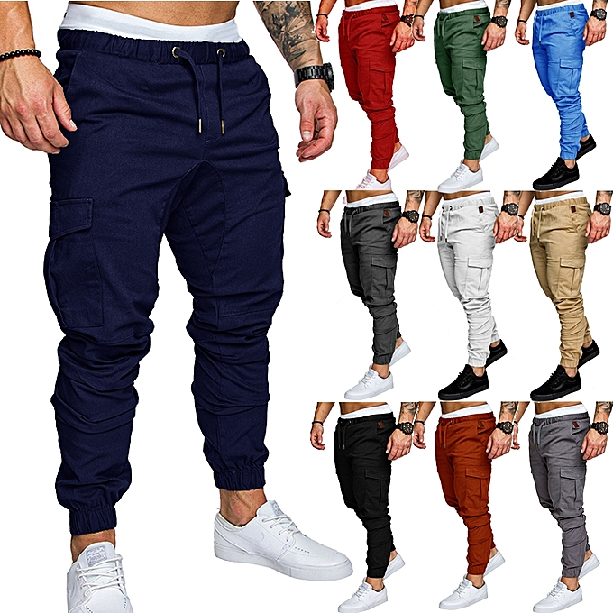 e4bf54526a1 Fashion Men s Sport Joggers Hip Hop Jogging Fitness Casual Pants ...