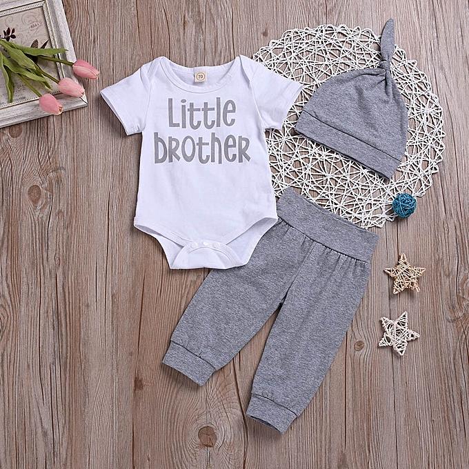 880a85d96dca Fashion Newborn Infant Baby Boy Clothes Letter Romper Tops+ Pants ...