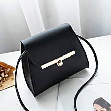 Tectores Women Fashion Pure Color Leather Messenger Shoulder Bag Chest Bag 9782b91c5c081