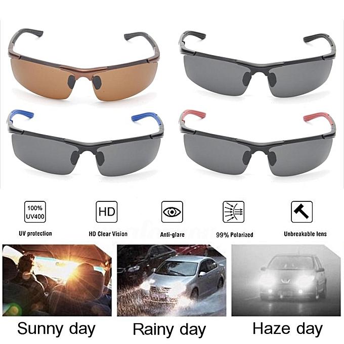 4d95d3f704b ... HD Night Vision Men Polarized Glasses Mens Eyewear Driving Sunglasses  UV400