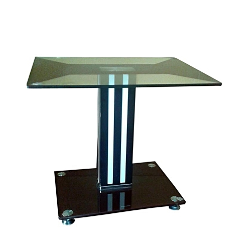Glass Side Stool- End Table