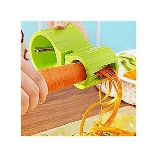 Vegetable Fruit Spiral Cutter Slicer Peeler + Knife Sharpener Tool