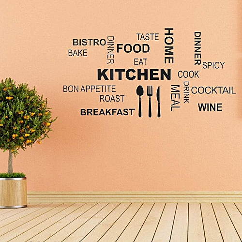 Generic Pvc Wall Sticker English Words Art Decal Dining Room