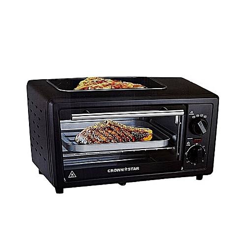 Electric Toaster Oven With Top Grill
