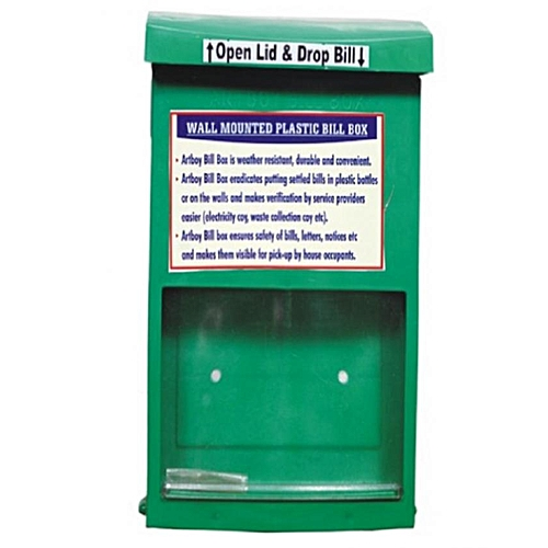 Wall Mounted Letter Box - Green