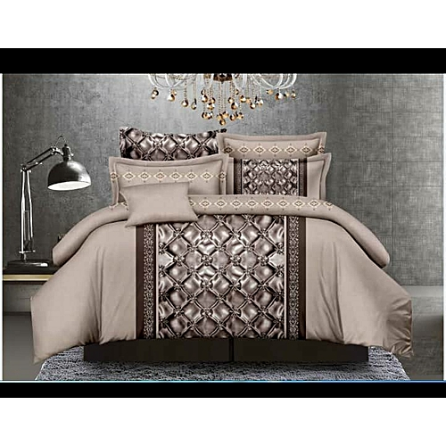 Bedsheet With Pillow Cases; Cool Brown
