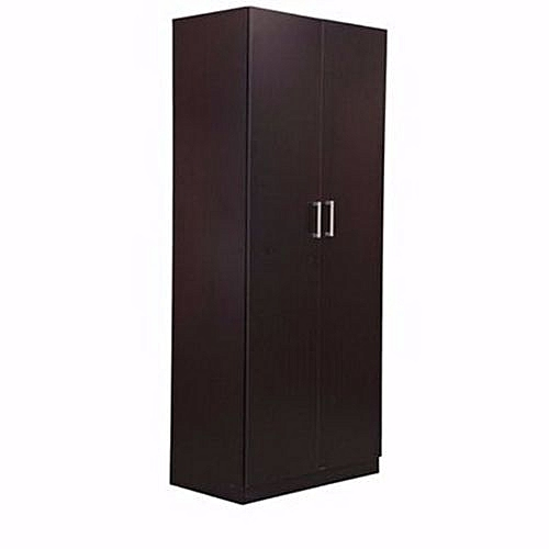 2 Door Wardrobe - Brown (Delivery Within Lagos Only)