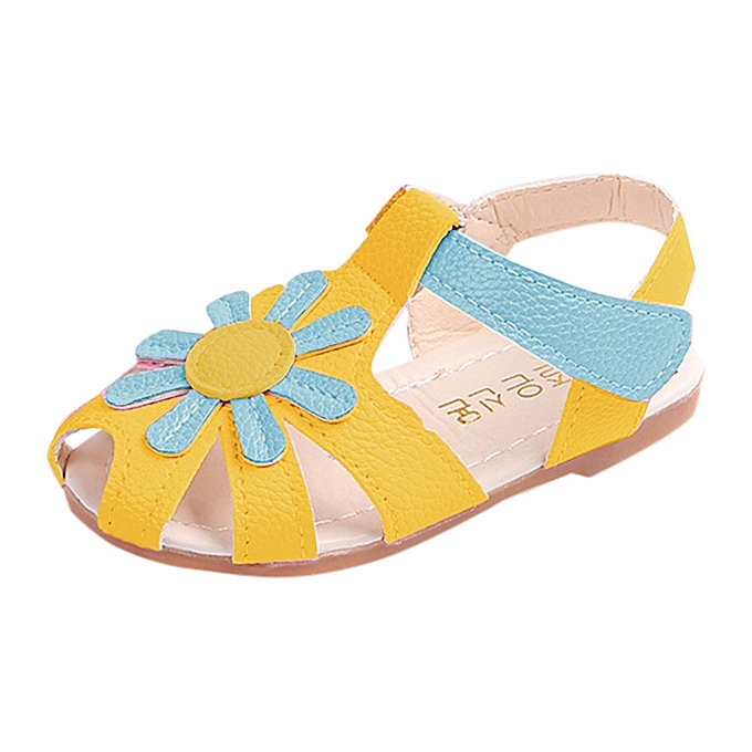 470ae5d840f8 Paidndh Store Toddler Baby Girl Sandals Sunflower Sole Children Princess Sandals  Shoes Beach-Yellow