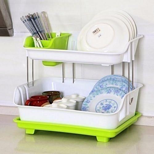 Multipurpose Dish Rack- Multicolour