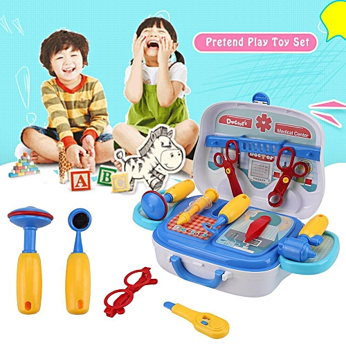 Kids Pretend Play Toys Cooking/ Medical Equipment/ Repair Tool/ Makeup Role Game Toy Set