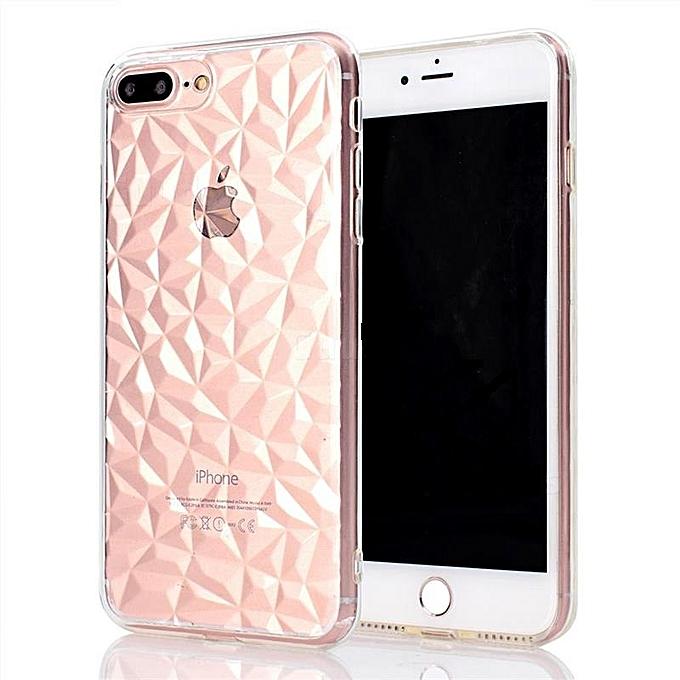 hot sale online b6855 e50f2 IPhone 7 Plus Case/8 Plus Case Cover TPU Clear Case Diamond Pattern Case  For IPhone 7 Plus/8 Plus