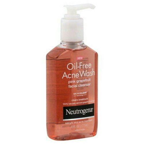 Oil-Free Acne Wash Facial Cleanser, Pink Grapefruit 6oz