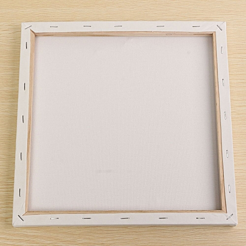 White Blank Square Canvas Board Wooden Frame For Art Artist Oil Acrylic Paints 30x30cm