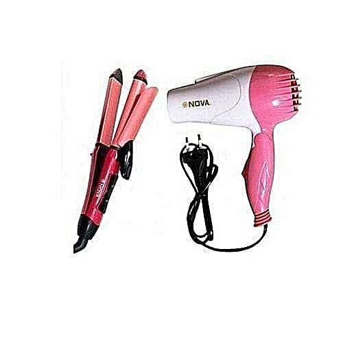Hair Dryer, Straightener & Curler
