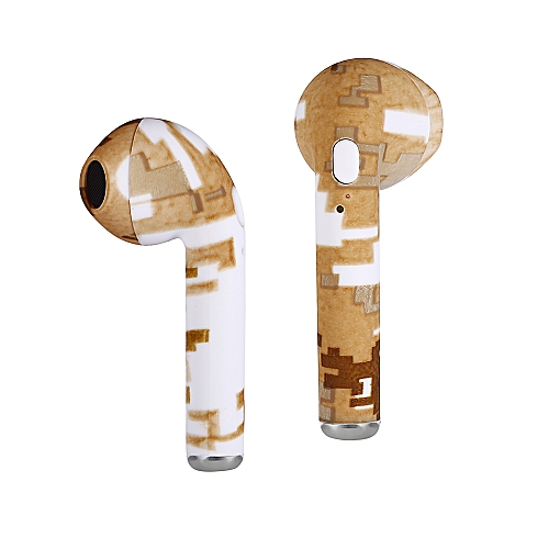I7S Smart Bluetooth Earphone Wireless Mini Earbuds With Charger Box - Orange Gold