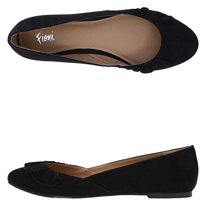 dc707fc1f6fa Fioni Women s Suede Office Flats Shoe - Black