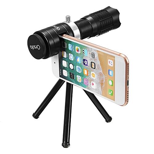 Wide Angel 14X Telephoto Telescope Monocular Phone Camera Lens +Tripod + Clip Black