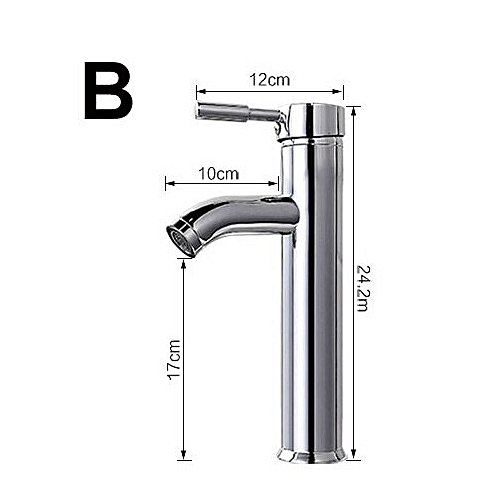 17/24/30cm Height Stainless Steel Bathroom Mixer Tap Faucet Hot And Cold Water Chromed Finish