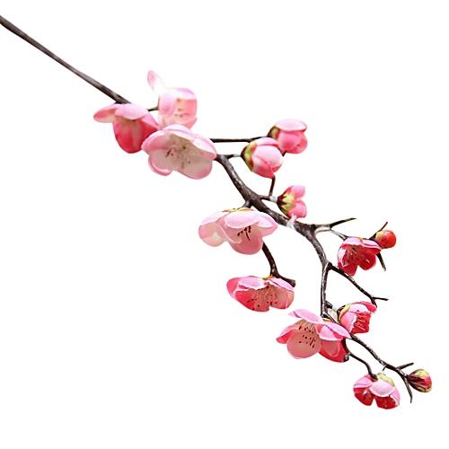 Artificial Silk Fake Flowers Plum Blossom Floral Wedding Bouquet Party Decor -pink