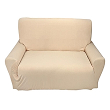 Stretch Sofa Couch Protect Cover Slipcover For 2 Seater Beige