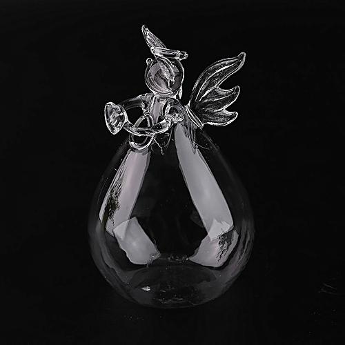 Transparent Glass Home Decoration Furnishing Angel Shape Flower Plant Vase