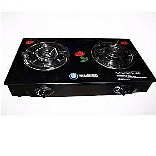 Double Burners Glass Table Top Gas Cooker