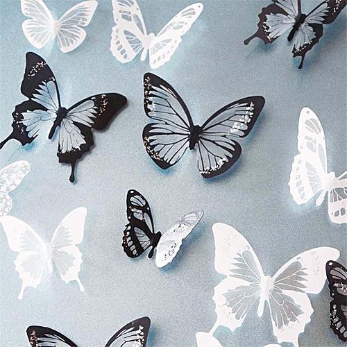 3D Butterfly Wall Stickers Art Butterflies Home Room Decor