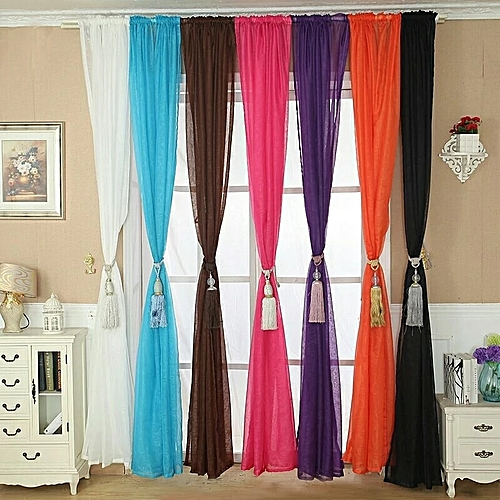 Curtain 1-Piece Voile , 183cm Wide X 230cm Length - Color Variation Options