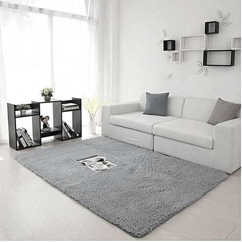 110x160 Fluffy Rugs Anti-Skid Shaggy Area Rug Room Home Bedroom Carpet Floor Mat
