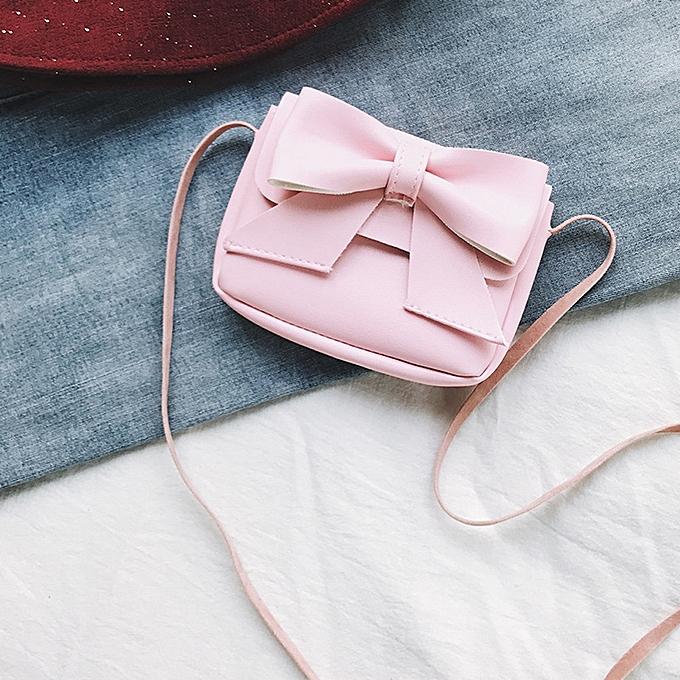 984a0aa62a7219 Zetenis Children Girls Cute Bowknotl Leather Handbag Shoulder Bag Mini  Crossbody Bag -Pink
