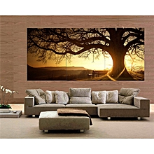 30x40cm Frameless 3 Panel Modern Printed Tree Painting Picture Cuadros Sunset Canvas Home Decor