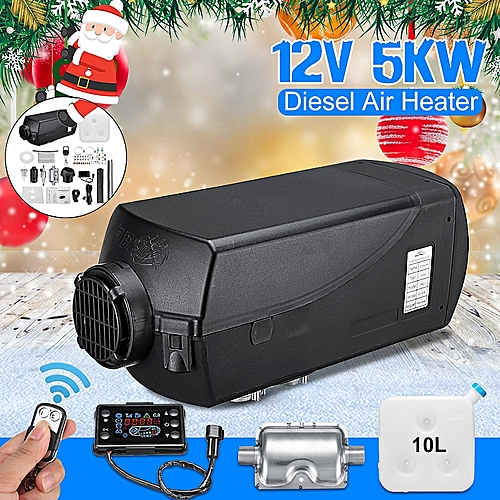 12V 5KW Diesel Air Heater LCD Thermostat Remote Control Quite For Truck Boat Car
