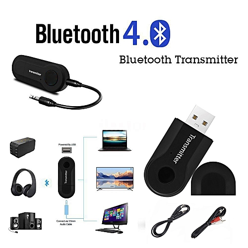 Equivalentt USB Wireless BT4.0 Transmitter Stereo Audio Music Adapter For TV Phone PC Y1X2