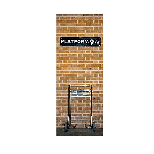 3D Harry Potter Platform 9 3/4 Door Wall Sticker Art Self Adhesive Mural Decors