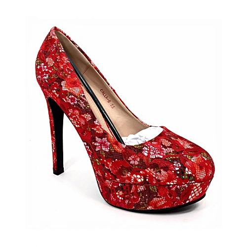 Bettie Page Fancy Platform Heels - Multi