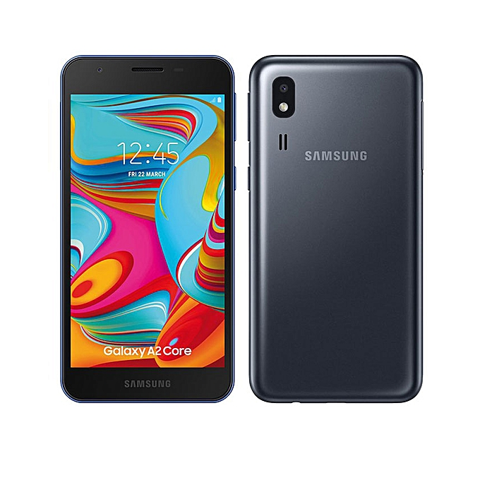 Galaxy A2 Core 5-Inch QHD (1GB,16GB ROM) Andorid 9 0 (Pie) 5MP + 5MP Dual  SIM 2600mAh Smartphone - Dark Gray