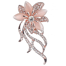 Chrysanthemum Brooch Pin Charming Dress Clip Eye-catching Women Scarf Pins Pink