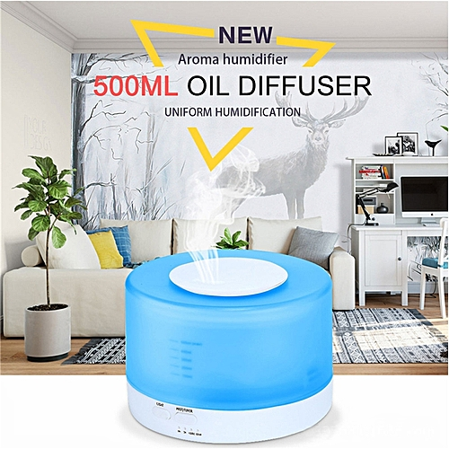 500ml Electric Ultrasonic Humidifier Air Purifier Remote Control Essential Oil Aroma Diffuser