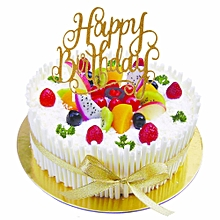 Cake Topper Happy Birthday Party Supplies Decorations Kids Rose Silver