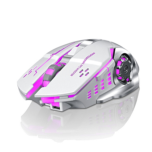 Opaopani Rechargeable X8 Wireless Silent LED Backlit USB Optical Ergonomic Gaming Mouse