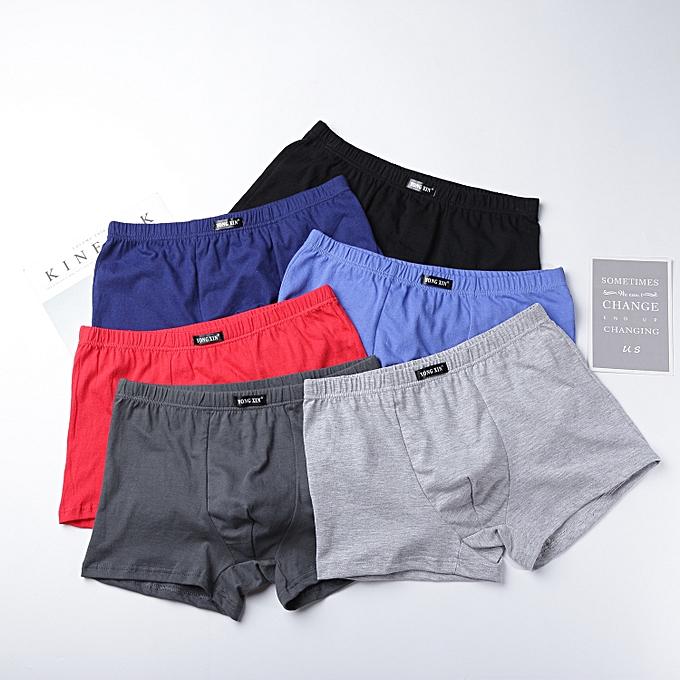 7a26170ca63 Generic 4pcs/lot Men's 100% Cotton Boxer Shorts Random Color   Jumia NG