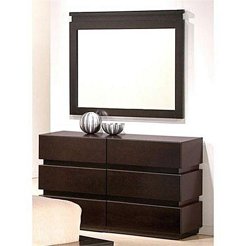 Dresser And Mirror - Brown