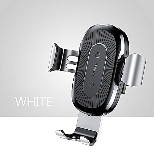 Baseus Baseus 10W QI Wireless Charger Car Holder For IPhone X Plus Samsung S8 S9 Fast Car Mount Wireless Charging Charger Phone