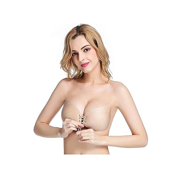 1a62610ecd ... Upgraded Invisible Strapless Push Up Bras Bandage Blackless Stick Gel Silicone  Bras For Women - Nude