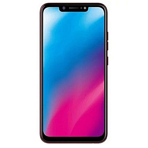 Camon 11 (CF7) 6.2-Inch Super FULLVIEW (3GB, 32GB ROM) Android 8.1 Oreo, (13MP + 2MP) + 16MP Dual SIM 4G LTE Face ID Smartphone - Bordeaux Red (ES19)